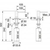 Franke Active SM Sıvı sabunluk Copper Sıvı Sabunluk-2