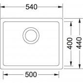 Franke Kubus KBG 110-50 Granit Avena Evye-2