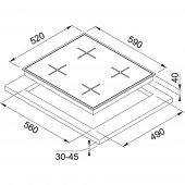 Franke New Square FHNS 604 4G BK C Cristallo Nero Ocak-2