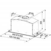 Franke Box Plus Glass FBI 537 XS/BK Siyah Davlumbaz-2