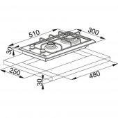 Franke Multi Cooking 300 FHM 302 2G XS C Paslanmaz Çelik Ocak-2