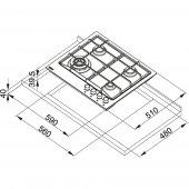 Franke Neptune FHNE 604 3G TC XS C Paslanmaz Çelik Ocak-2