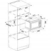 Franke Microwave Crystal FMW 250 CR2 G WH White glass Mikrodalga Fırın-2