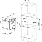 Franke Glass Linear FMW 20 GN G WH White glass Mikrodalga Fırın-2