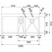 Franke Planar PPX 251 Paslanmaz Çelik Evye-2