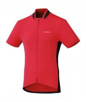 Bisiklet Forması Shimano Tam Fermuar Kırmızı