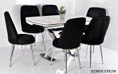 6 Kişilik Mutfak Masası Masa Sandalye Takımı Açılı...