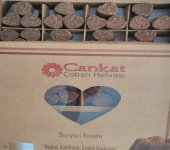 Cankat Coban Helvası & Bozyazı Kavutu 1000 Gr Kraft Kutu (Keçiboynuzlu, Şekersiz, Glutensiz, Doğal, Yerfıstığı Helvası)