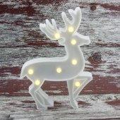 25cm Led Işıklı Plastik Geyik Gece Lambası