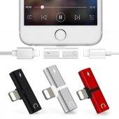 Kulaklık Şarj Dönüştürücü Çoğaltıcı İphone X 7 8 Plus Max Aparat-6