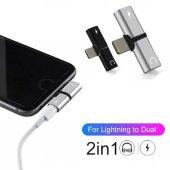 Kulaklık Şarj Dönüştürücü Çoğaltıcı İphone X 7 8 Plus Max Aparat-7