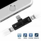 Kulaklık Şarj Dönüştürücü Çoğaltıcı İphone X 7 8 Plus Max Aparat-9