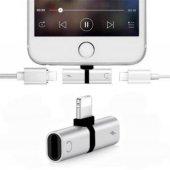 Kulaklık Şarj Dönüştürücü Çoğaltıcı İphone X 7 8 Plus Max Aparat-10