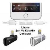 Kulaklık Şarj Dönüştürücü Çoğaltıcı İphone X 7 8 Plus Max Aparat-2