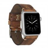 Bouletta Apple Watch 42 44mm Deri Saat Kordon Delikli Taba