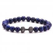 Doğal Taş Lapis Lazuli Bileklik Potent Black