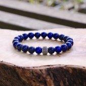 Doğal Taş Lapis Lazuli Bileklik 'Elegant Silver'-2