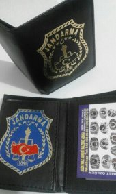 Jandarma Rozetli Cüzdan Soguk Damgalı Rozetli Aske...