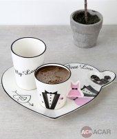 Acar Plus Porselen 3 Lü Damat Kahve Fincan Takımı 008450