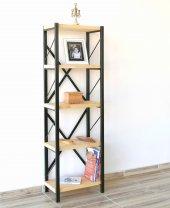 Metal Ahşap Kitaplık Seti Ofis Büro Raf K249