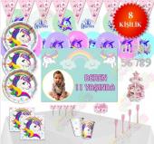 Unicorn Ünicorn Doğum Günü Parti Malzemeleri Süsleri Set