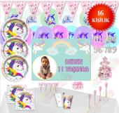 Afişli Unicorn Ünicorn Doğum Günü Parti Malzemeleri Süsleri Set