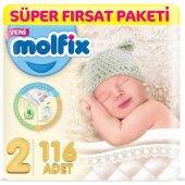 Molfix Bebek Bezi 2 Beden Mini Süper Fırsat Paketi 116 Adet