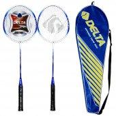 Delta Tek Parça 2 Adet Çiftli Badminton Raketi...