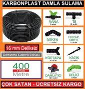 Damlama Sulama Deliksiz Boru Sistemi Hazır Paket 400 Metre 16 Mm