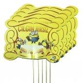 5 Adet Minions Konuşma Balonu Çubuğu, Çılgın Hırsızlar Çubukları
