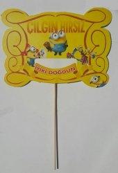5 Adet Minions Konuşma Balonu Çubuğu, Çılgın Hırsızlar Çubukları-2