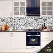 Mutfak Tezgah Arası Folyo Kaplama Taş Desen