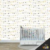 çocuk Odası Duvar Kağıdı Kaplama Folyosu Yıldız