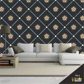 Duvar Kaplama Folyosu Siyah &gold