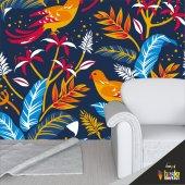 Duvar Kağıdı Kaplama Folyosu Kuşlar