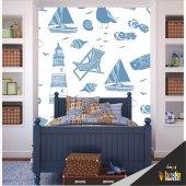 çocuk Odası Duvar Kaplama Folyosu Deniz Temalı