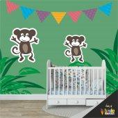 çocuk Odası Duvar Kaplama Folyosu Maymunlar