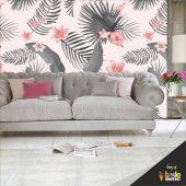 Duvar Kaplama Folyosu Tropik Çiçekler