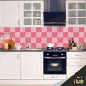 Mutfak Tezgah Arası Folyo Kaplama Pembe
