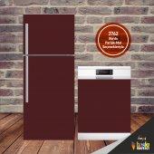 Buzdolabı Ve Bulaşık Makinesi Kapak Sticker Folyo Bordo