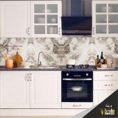 Mutfak Tezgah Arası Folyo Kaplama Mermer Desen