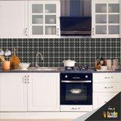 Mutfak Tezgah Arası Folyo Kaplama Siyah