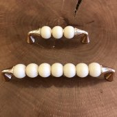 Misket Porselen Görünümlü Kulp Altın Sarı Dolap Kulpu
