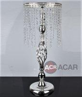 Acar Metal Aynalı Sehpa Gümüş 72x30