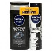 Nivea Men Active Clean Duş Jeli + Black White İnvisible Deodorant