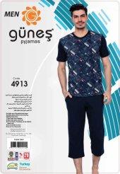 Güneş 4913 Kısa Kol Erkek Kapri Pijama Takım