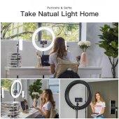 Kuaför Makyaj Çekimleri Ring Light Sürekli 12 İnç Işık 2m Stand