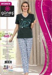 Güneş 6451 Kısa Kol Bayan Pijama Takımı