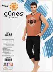 Güneş 4765 Sıfır Kol Erkek Kapri Pijama Takımı