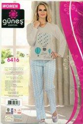 Güneş 6416 Uzun Kol Mevsimlik Bayan Pijama Takım